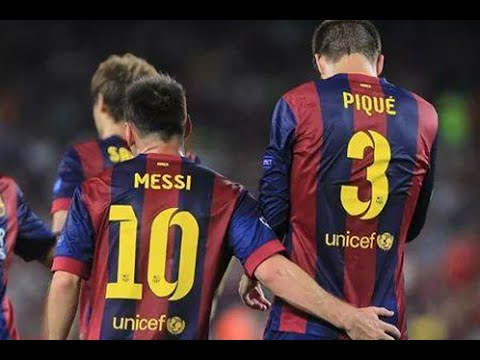 Great Messi free-kick! Nou Camp fan footage! Gerard Pique winner for Barcelona v APOEL! thumbnail