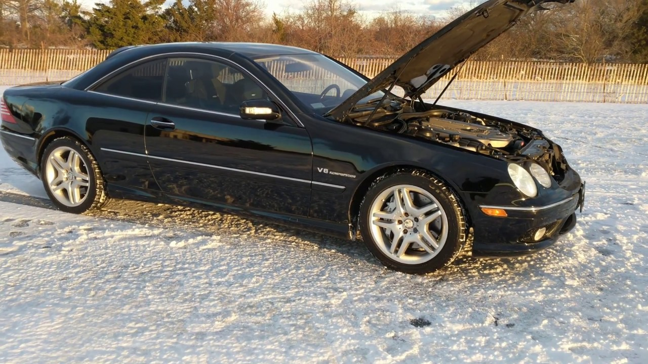 2005 Mercedes Benz Cl55 Amg For Sale 5 4l Supercharged Black On Black Great Deal