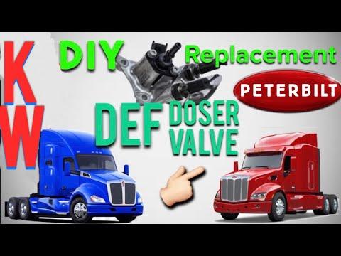DEF Dosing Valve Replacement: Kenworth/Peterbilt - YouTube