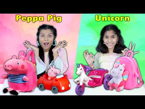 Peppa Pig Vs Unicorn Challenge | Pari's Lifestyle