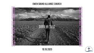 October 18th, 2020 Sunday Service // Owen Sound Alliance Church