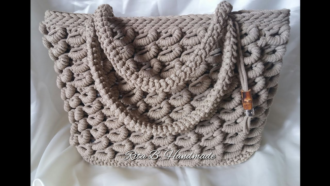 Borsa Sabbia Tutorial Passo Passo Crochet Youtube
