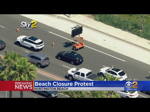 'Reopen California' Protests Start In Huntington Beach