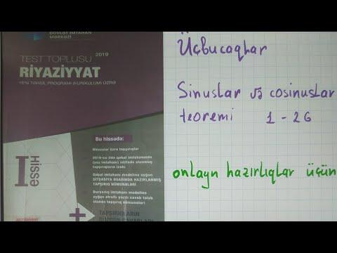 Ucbucaqlar Sinuslar Və Cosinuslar Teoremi Youtube