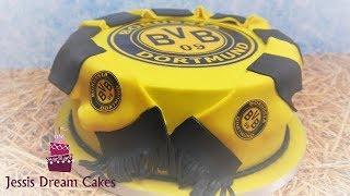 Borussia Dortmund Torte/BVB Torte/Fußball-Motivtorte