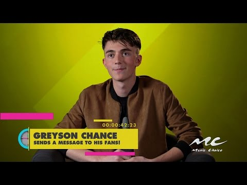 Greyson Chance's Message to His Fans!