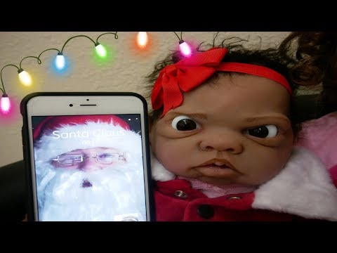 Silicone Baby Winter & Big Sister Malia Facetime Santa Claus!