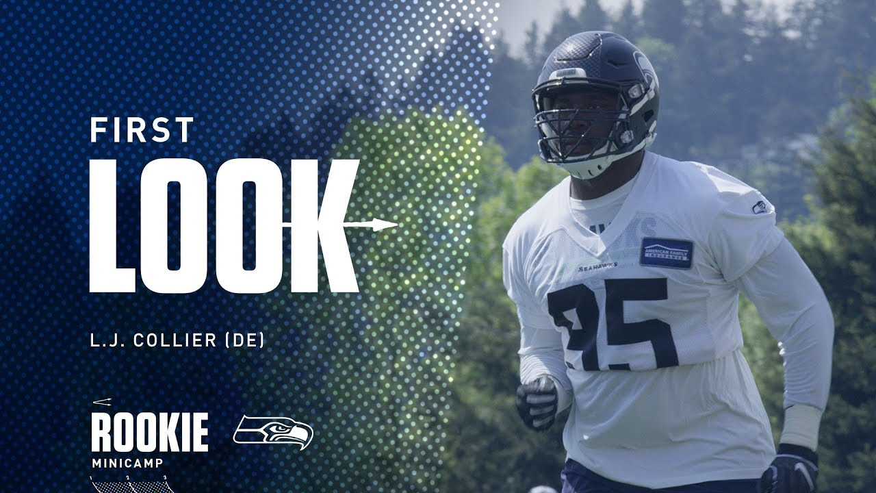 buy online 9fe49 d00bc Seahawks First Look: L.J. Collier at Rookie Minicamp