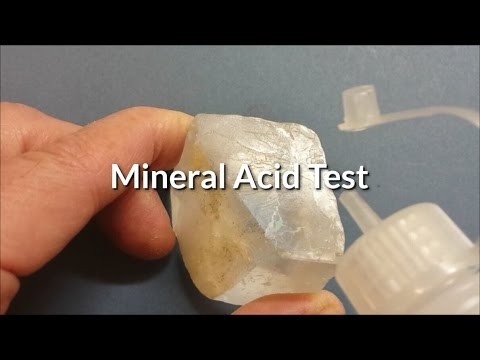 How To Test A Mineral With Hcl The Quot Acid Test Quot To