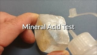 "How to Test a Mineral with HCl, the ""Acid Test"" to Identify Calcite - for Teachers and Students"