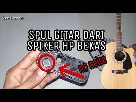 Ide kreatif ! Cara membuat spul gitar dari SPIKER HP BEKAS ( no noise ) part 2