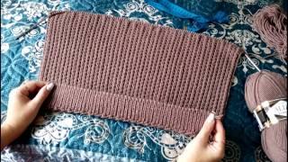 видео Мужской свитер английской резинкой спицами