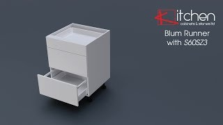 [Components] Assembly Video for Blum Runners with 600mm 3 drawer base cabinet