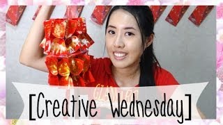 Repeat youtube video HOW TO MAKE A RIBBONS RED PACKET LANTERN! [CREATIVE WEDNESDAY]