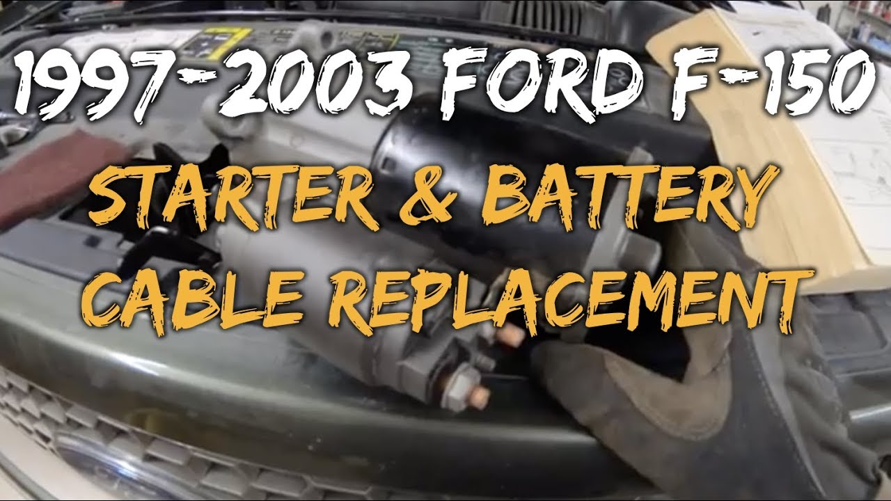 1997-2003 F150 Starter & Battery Cable Replacement on 2000 f150 speaker size, 2000 f150 wire harness, 1999 ford f350 fuse diagram, 2000 f150 troubleshooting, 2000 f150 thermostat, 2000 f150 fan belt, 2000 f150 sub box, 2000 f150 specifications, 2001 ford f-150 suspension diagram, 2000 f150 stereo, 2000 f150 parts, 2000 f150 door, 2000 f150 ignition switch, 2000 ford f-150 parts diagram, ford f-150 transmission diagram, 2000 f150 fuse, 2000 f150 starter, 2001 ford f-150 engine diagram, ford f150 distributor diagram, 2000 f150 cooling system,