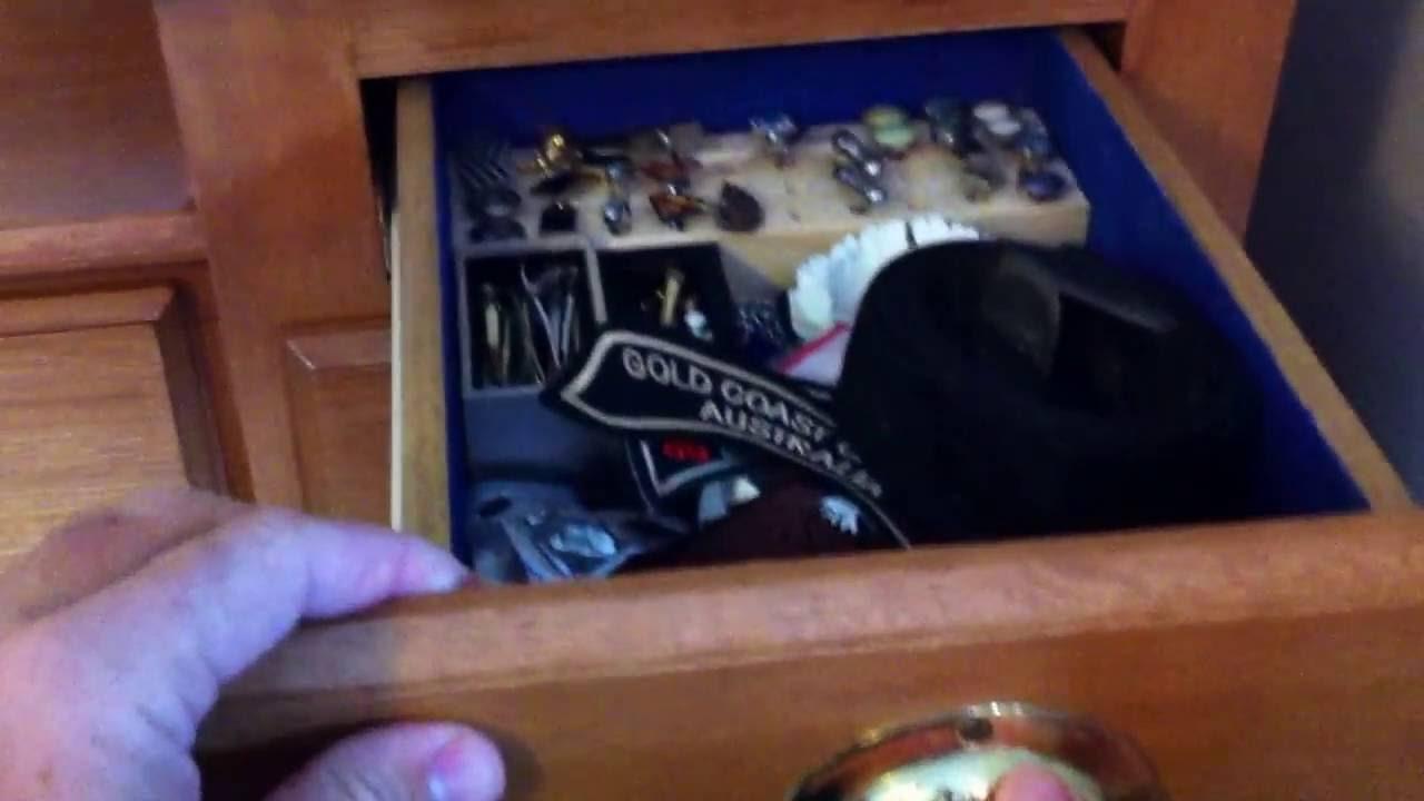 Hidden Drawer Lock Secret Drawer Dresser Finished Youtube