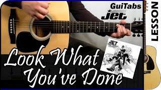 How to play Look What You've Done 💔 - Jet / Guitar Tutorial 🎸