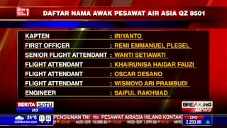 Daftar Nama Awak Pesawat AirAsia