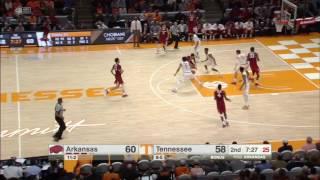 Arkansas vs Tennessee Basketball Highlights 1-3-17