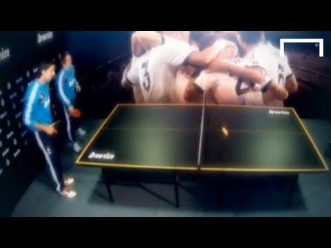 Real Madrid table tennis: Khedira/Modric vs Carvalho/Essien