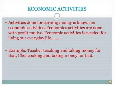 Economic And Non Economic Activity Youtube