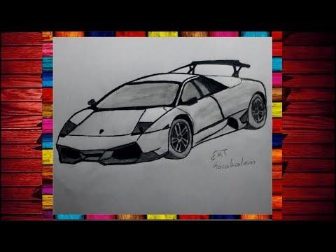 Ekt Karakalem Lamborghini Araba Cizimi Youtube