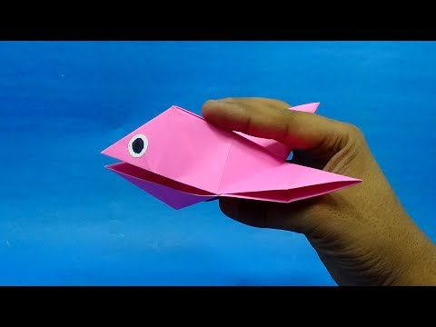 Moving Paper Fish | Talking Biting Puppet Fish | Easy Paper Fish Crafts DIY Tutorial