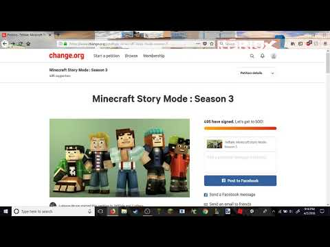 Minecraft story mode season 3 petition sent in!