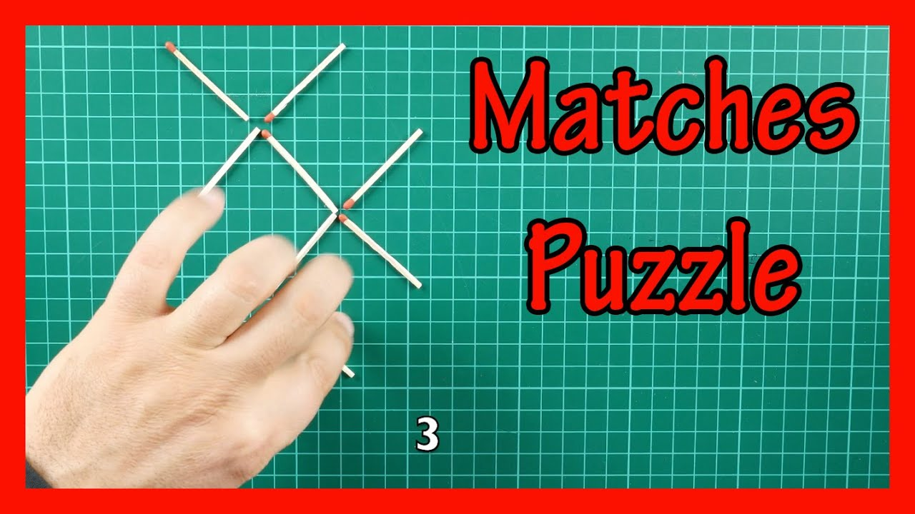 Matches Puzzle Game magic tricks Bar Bet - YouTube