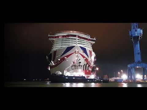 meyer-werft-Überführung-/-river-ems-conveyance-iona-(p&o-cruises)