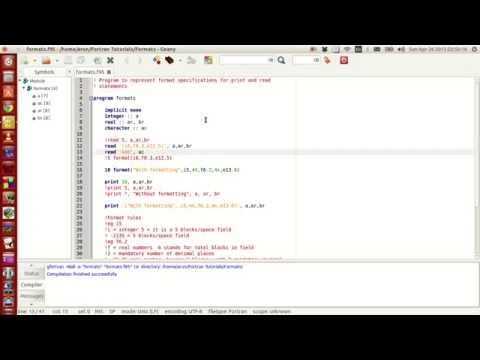 Fortran Programming Tutorials Revised 024 Formats Arrays Allocate Limits Of Int Youtube