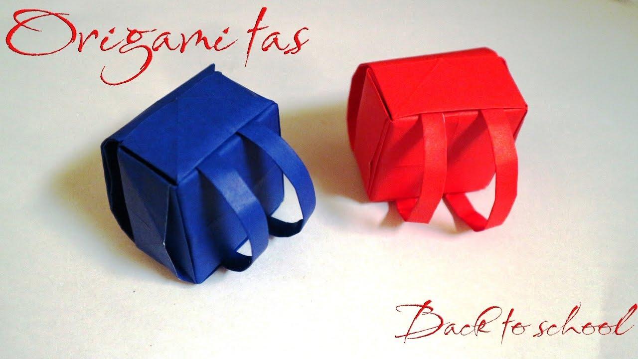cara melipat origami tas jepang origami school bag easy