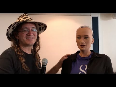 VIDEO Interview: SingularityNET's Dr Ben Goertzel, robot Sophia and open source AI