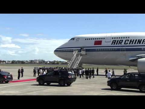 Arrival of President Xi Jinping, People