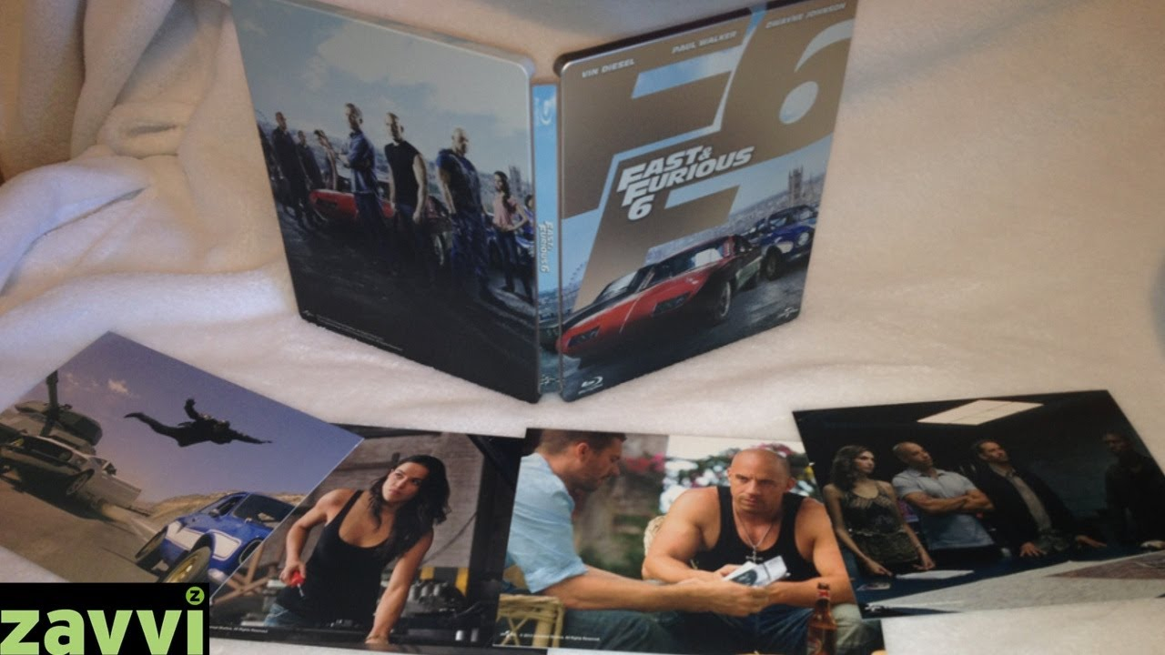 fast furious 6 zavvi exclusive blu ray steelbook with. Black Bedroom Furniture Sets. Home Design Ideas