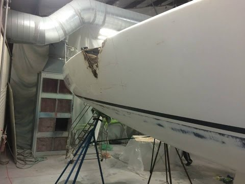Sailboat Repair with Major Fiberglass Repair