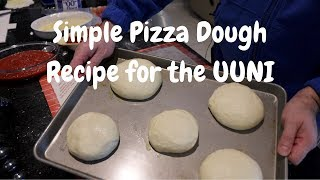 Simple UUNI Pizza Dough Recipe