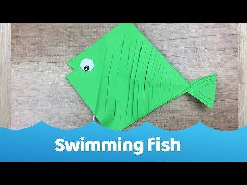 Swimming Paper Fish Simple Craft For Kids
