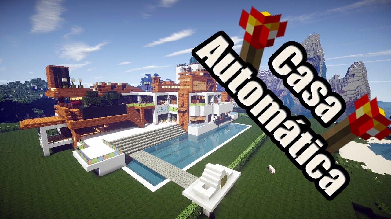 Minecraft casa autom tica redstone descarga youtube for Casa moderna y automatica en minecraft