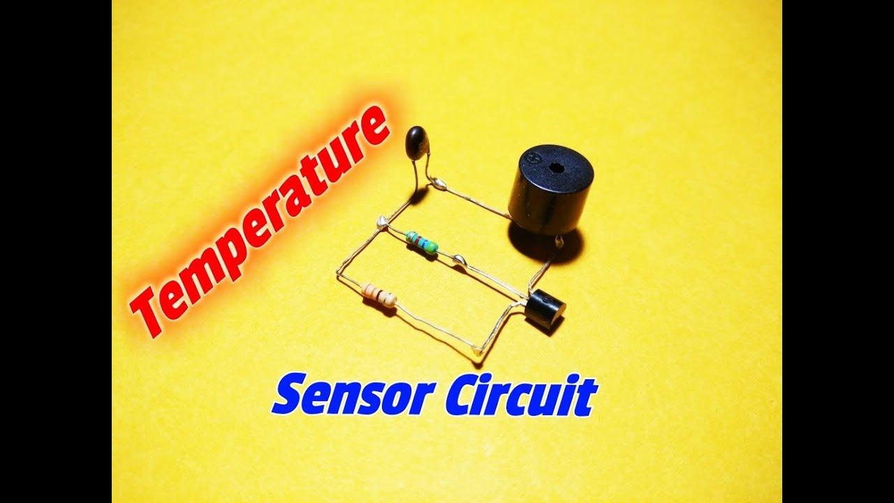 how to make simple temperature sensor circuit simple heat sensor circuit simple fire alarm circuit  [ 1280 x 720 Pixel ]