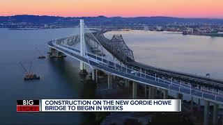 Gambar cover Gordie Howe International Bridge will begin construction this month