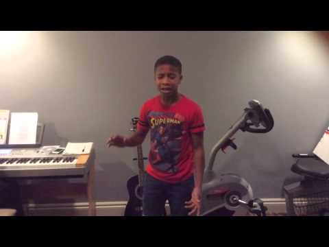 12 yr old Caleb Carroll singing Cover of