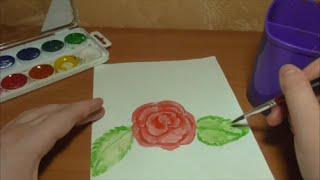Как нарисовать розу, которая распустилась? / How to draw a rose that blossomed?(В этом я видео я рисую и рассказываю как нарисовать розу, которая уже раскрылась. Рисую я акварельными краск..., 2016-02-25T16:13:14.000Z)