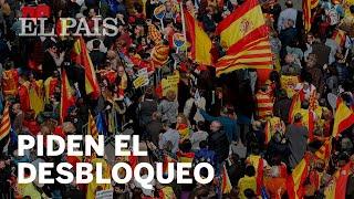 Manifestación en Barcelona por el desbloqueo de la política catalana | Cataluña
