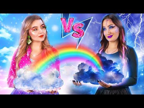 Storm Girl vs Rainbow Girl!  