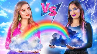 Storm Girl vs Rainbow Girl!