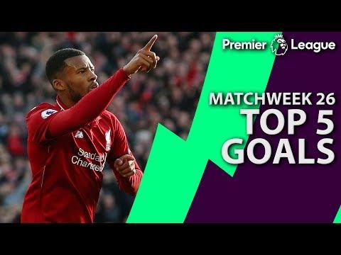 Top 5 goals from Premier League Matchweek 26   NBC Sports