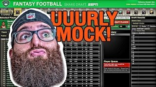 Early fantasy football mock draft 2017 espn