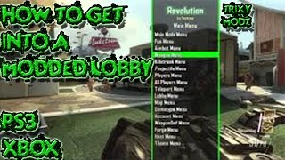 HOW TO GET INTO A MODDED LOBBY ON BO2 PS3 & XBOX - BOSSAM V6 !