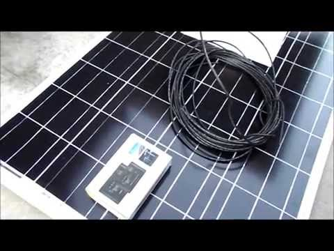 Running Solar in a van 100 watt WindyNation Ebay Solar Panel Kit install tips and Demo off grid 12v